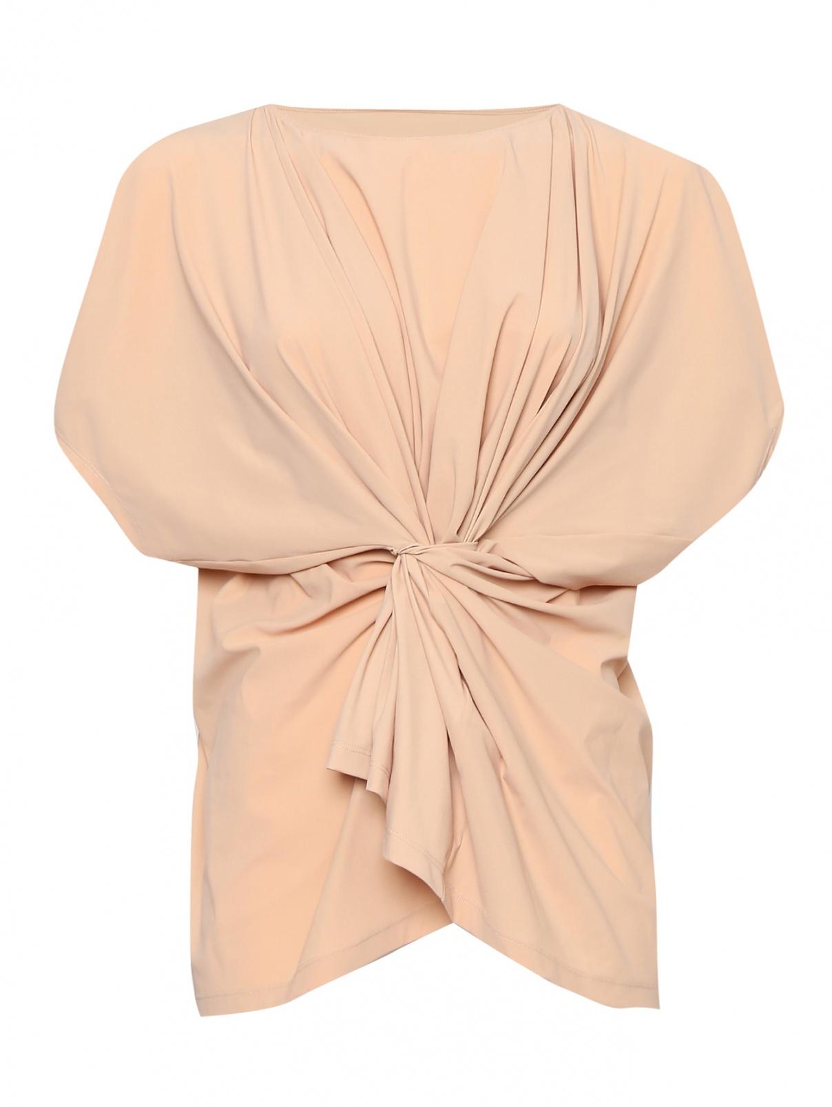 Блуза однотонная с драпировкой MM6  –  Общий вид