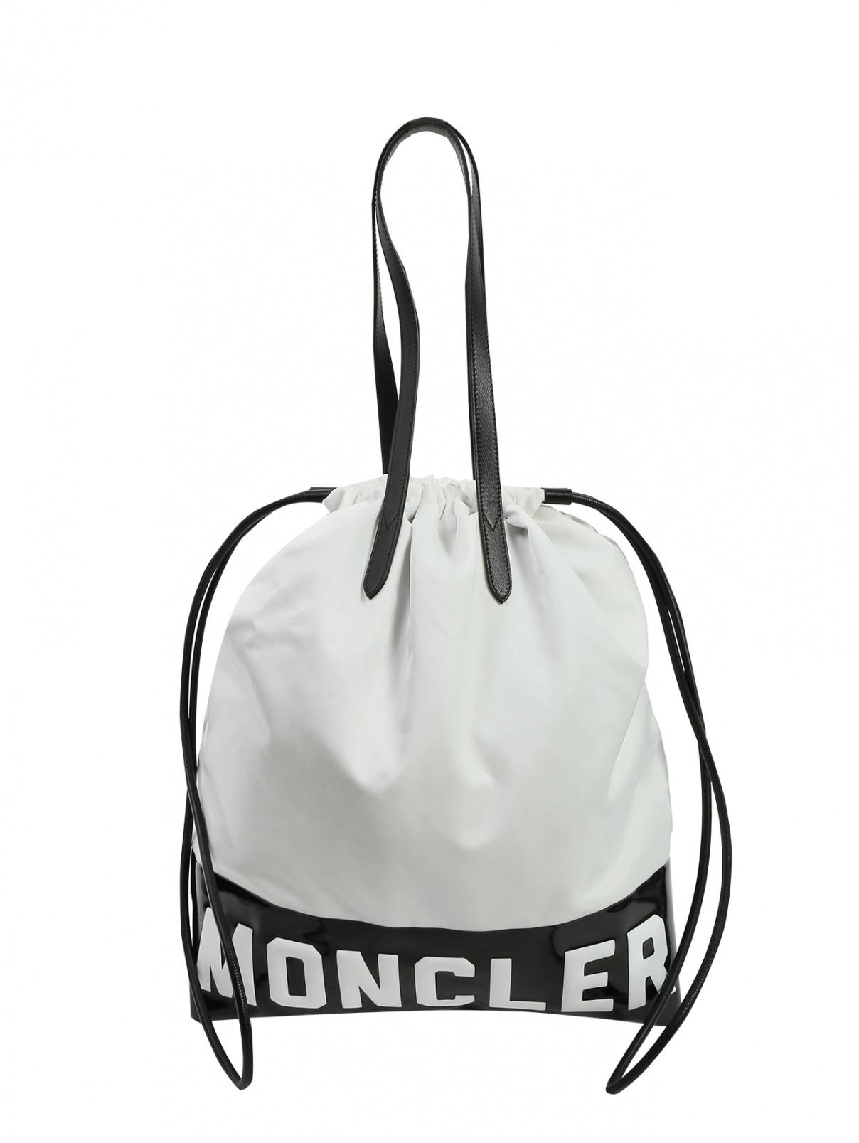 Шоппер из текстиля с контрастной отделкой Moncler  –  Общий вид