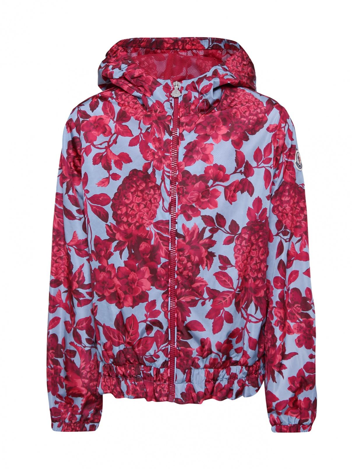 Куртка с цветочным узором на молнии Moncler  –  Общий вид