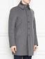 Пальто из кашемира на пуговицах Herno  –  МодельВерхНиз