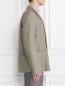 Пиджак однобортный из льна и хлопка с аппликацией Ermanno Scervino  –  Модель Верх-Низ2