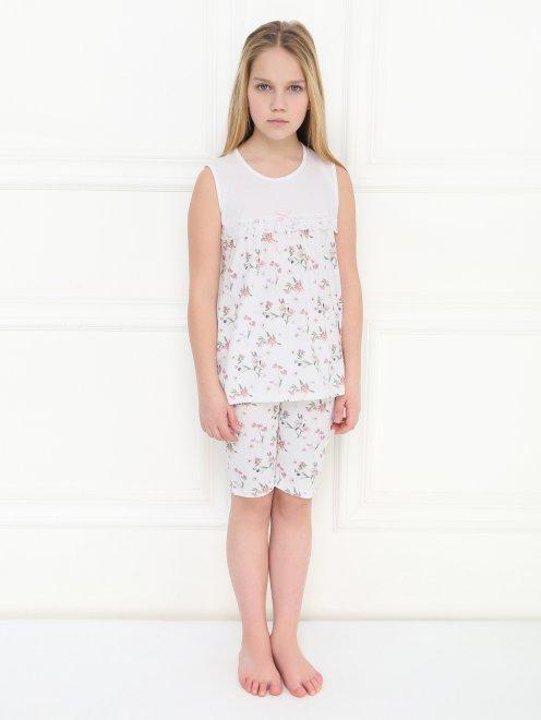 Пижама с цветочным узором La Perla - МодельОбщийВид1