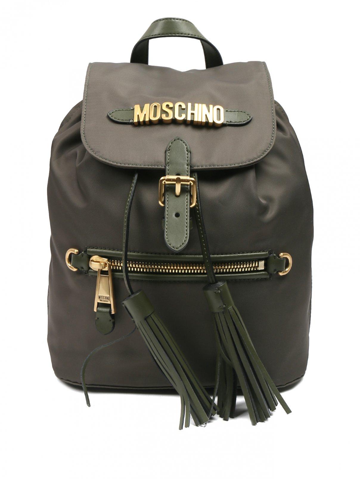 Рюкзак из текстиля с металлической фурнитурой Moschino  –  Общий вид