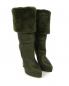 Зимние сапоги из кожи на высоком каблуке и с меховым отворотом Casadei  –  Общий вид