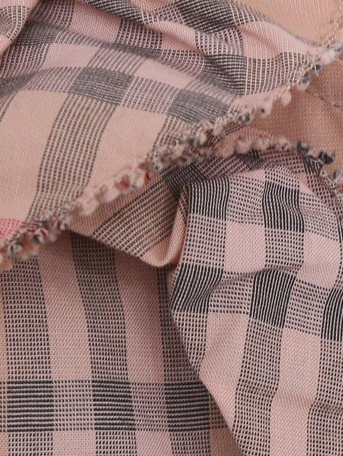 Платье хлопковое с оборками в клетку - Деталь