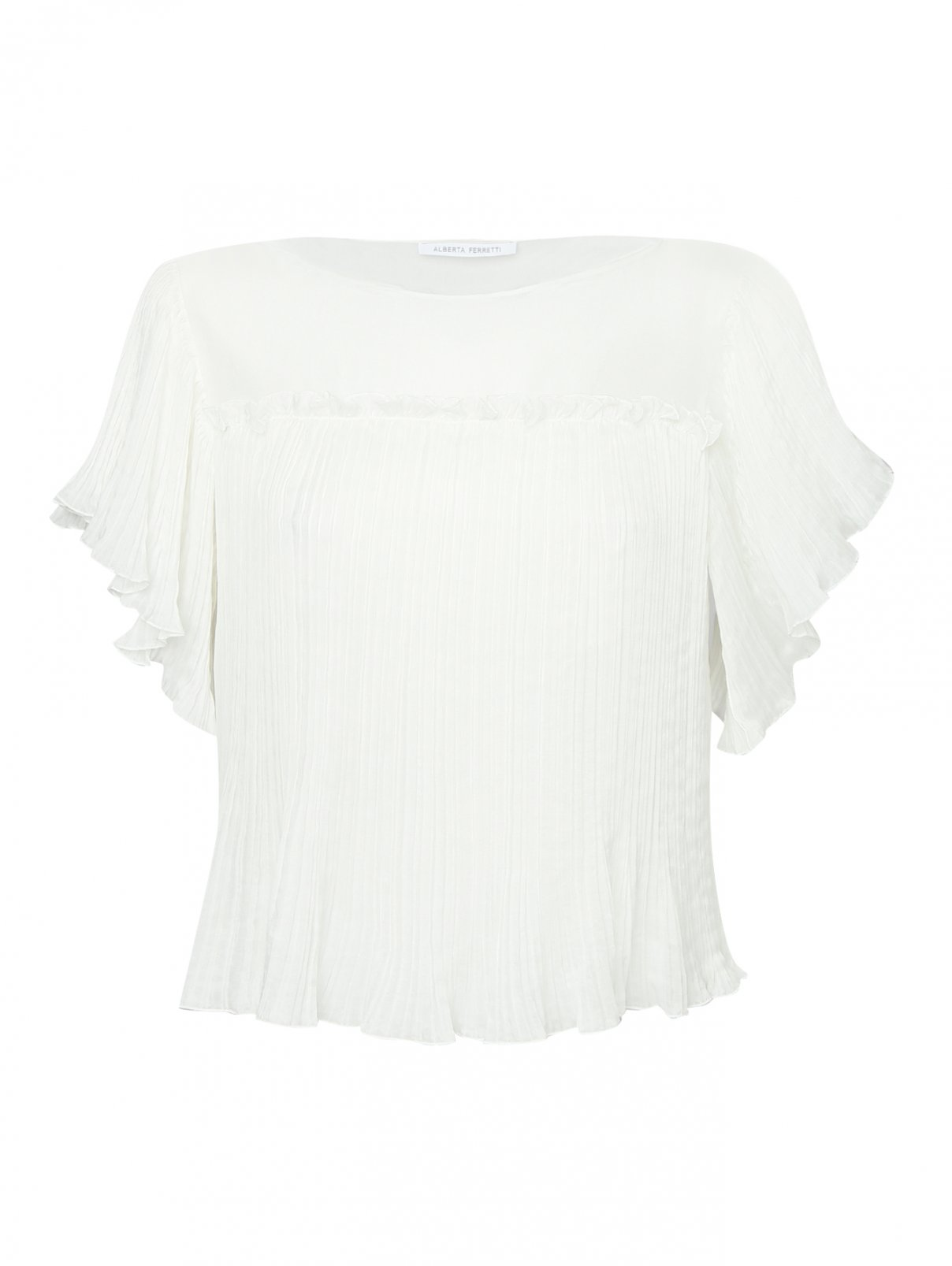 Блуза из шелка с коротким рукавом Alberta Ferretti  –  Общий вид