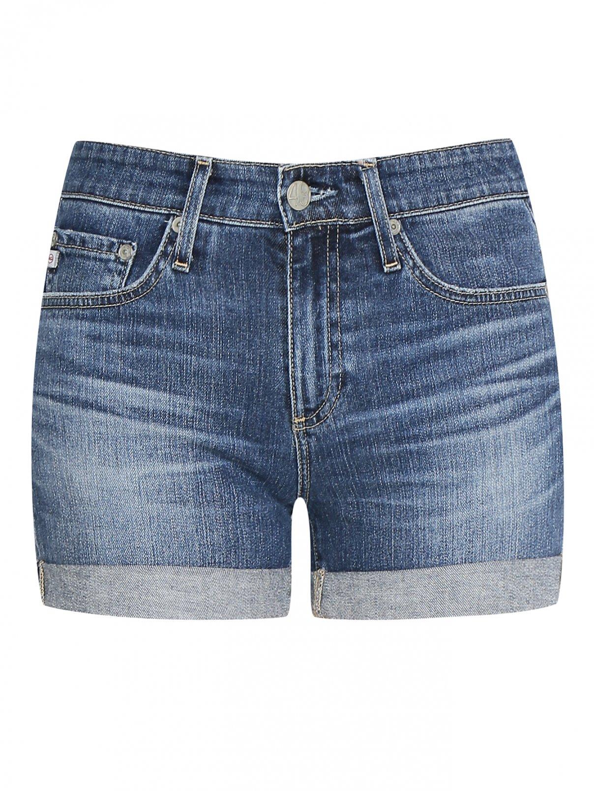 Шорты джинсовые с отворотами AG Jeans  –  Общий вид