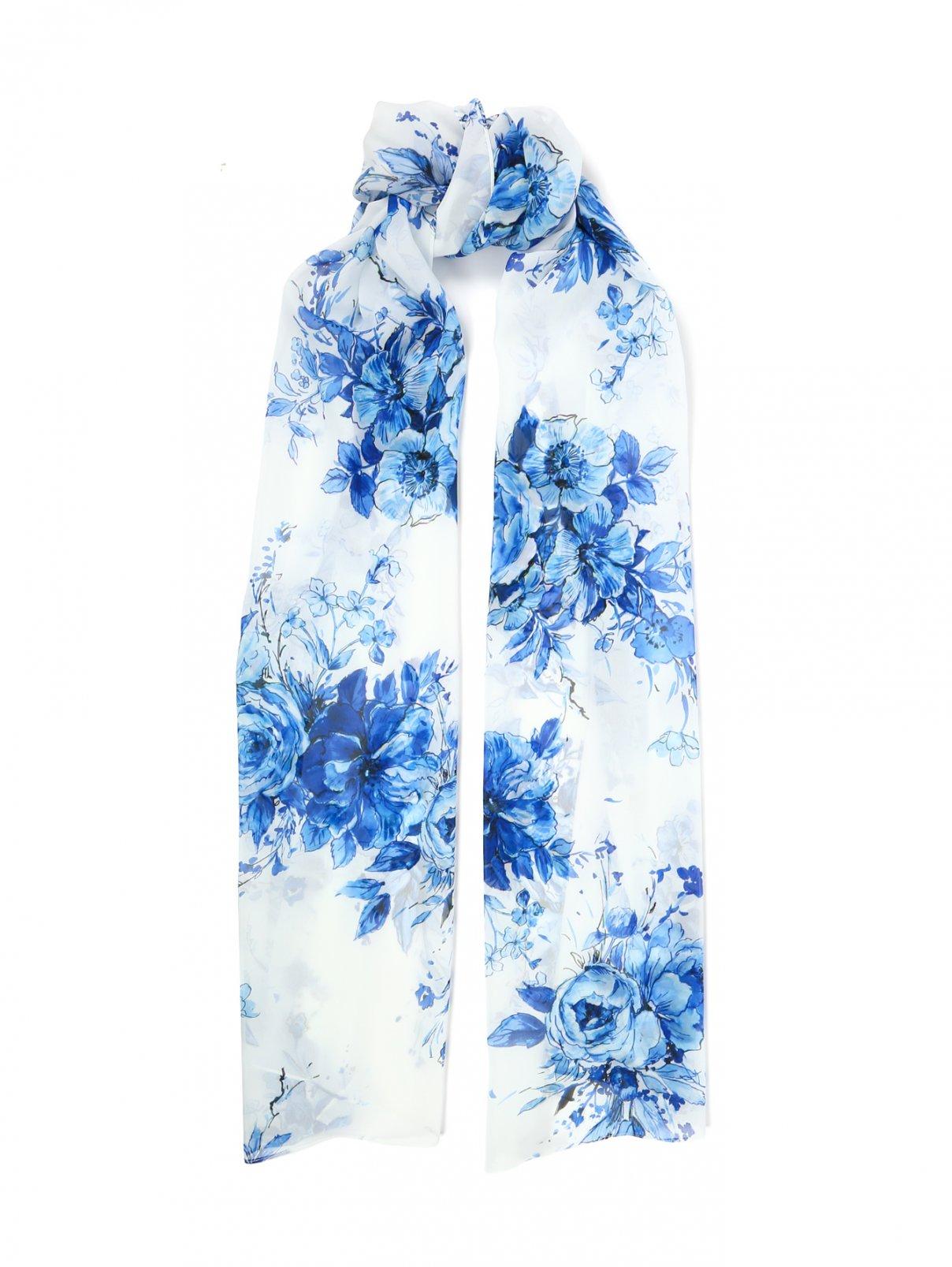 Широкий шарф с цветочным узором Marina Rinaldi  –  Общий вид