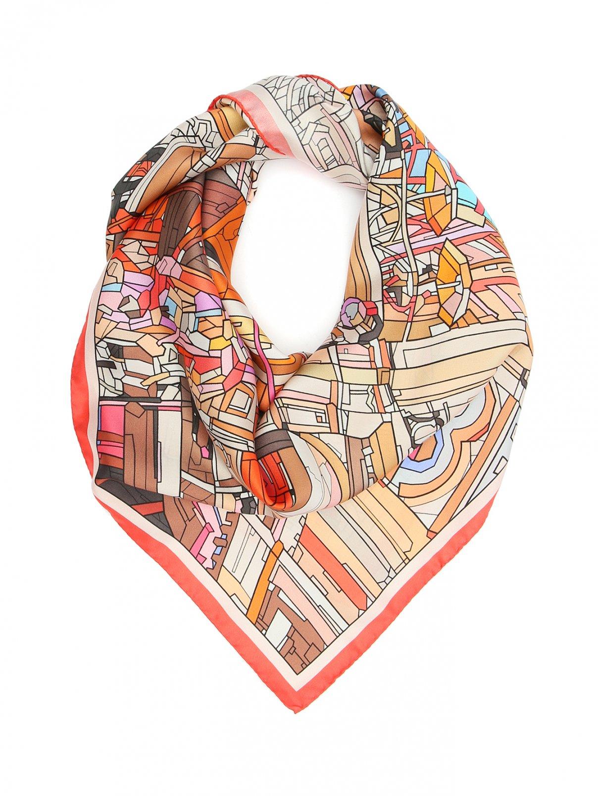 Платок из шелка с принтом Radical Chic  –  Общий вид