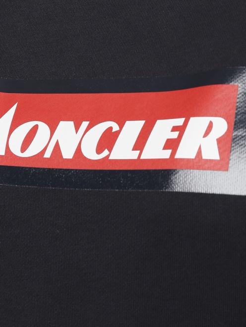 Свитшот из хлопка с принтом Moncler - Деталь1