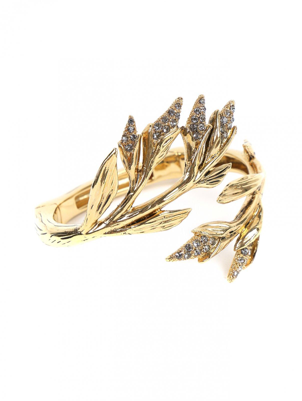Браслет из металла декорированный кристаллами Alberta Ferretti  –  Общий вид