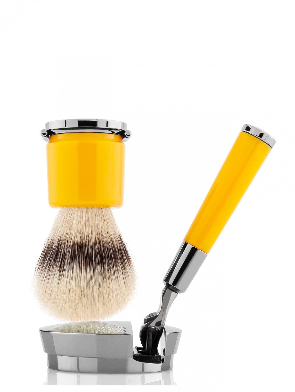 Станок и помазок для бритья желтый Barbiere Acqua di Parma  –  Общий вид