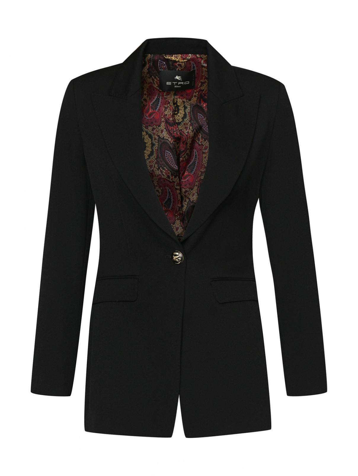 Пиджак из шерсти приталенного кроя Etro  –  Общий вид