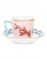 Набор кофейный из двух чашек и двух блюдец с узором Richard Ginori 1735  –  Обтравка2
