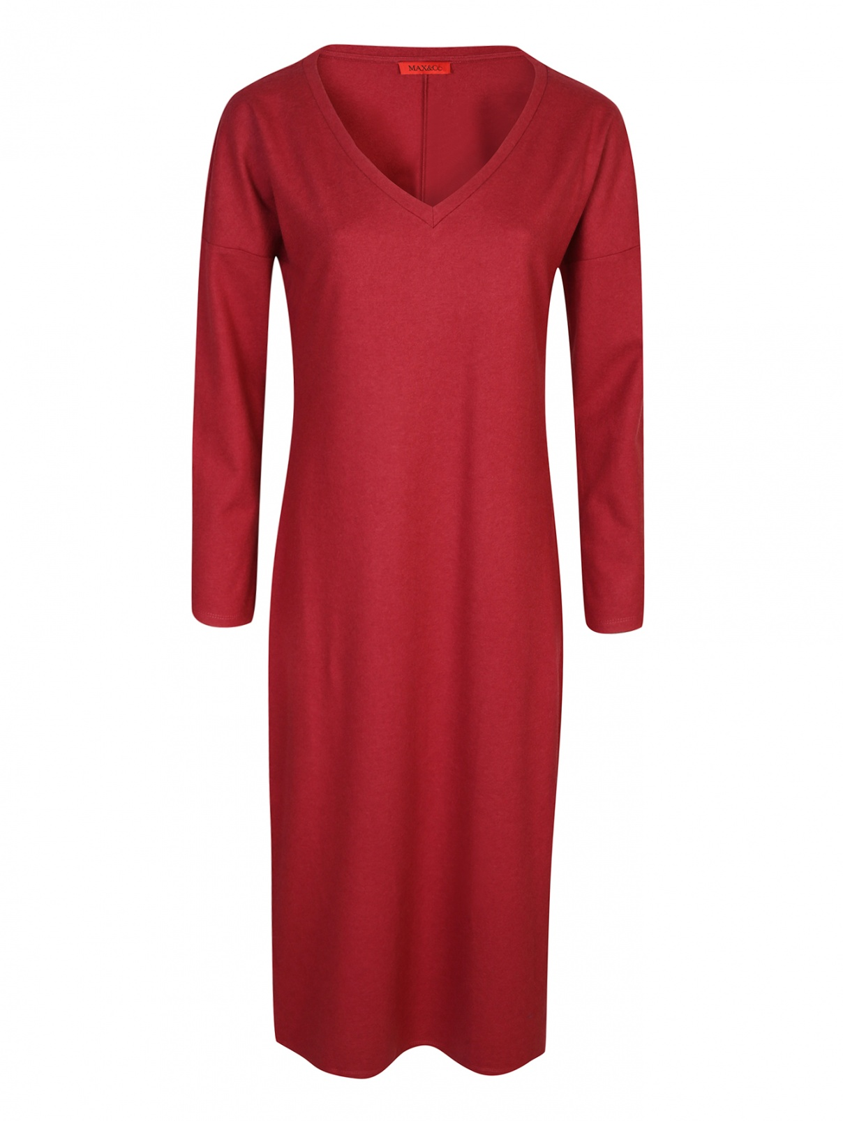 Платье трикотажное из смесовой шерсти Max&Co  –  Общий вид