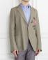 Пиджак однобортный из льна и хлопка с аппликацией Ermanno Scervino  –  Модель Верх-Низ