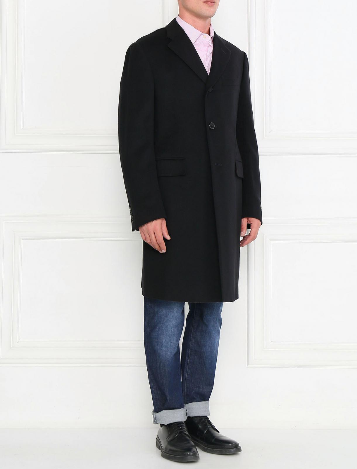 Пальто однобортное из кашемира Corneliani  –  Модель Общий вид
