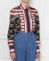 Рубашка прямого кроя, из шелка с узором Alberta Ferretti  –  МодельВерхНиз