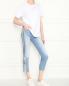 Укороченные джинсы из светлого денима 7 For All Mankind  –  МодельОбщийВид