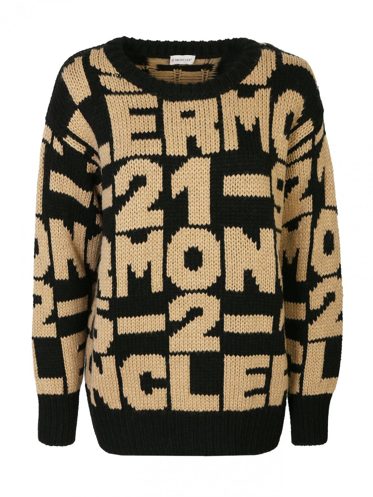 Джемпер из смесовой шерсти с рисунком Moncler  –  Общий вид