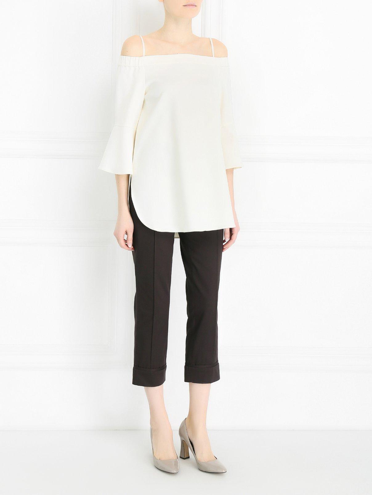 Укороченные брюки из хлопка Antonio Marras  –  Модель Общий вид