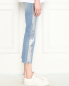 Укороченные джинсы из светлого денима 7 For All Mankind  –  МодельВерхНиз2