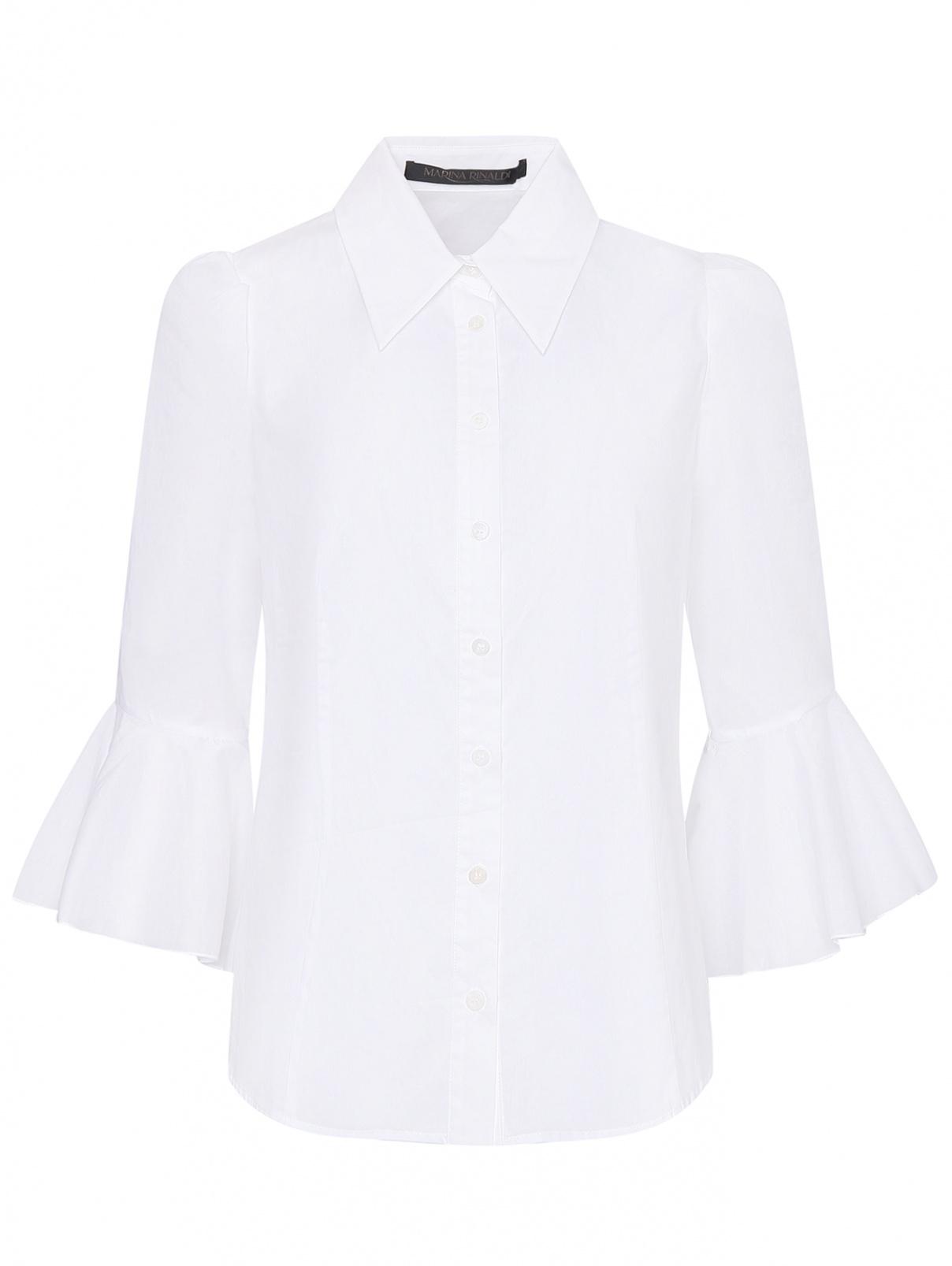 Рубашка из хлопка с рукавами с воланами Marina Rinaldi  –  Общий вид