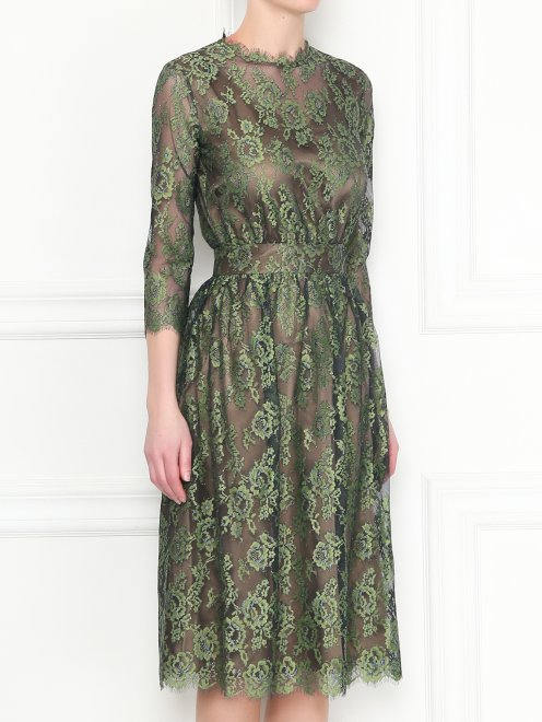 Платье-миди из кружева с рукавами 3/4 Akhmadullina Dreams - МодельВерхНиз