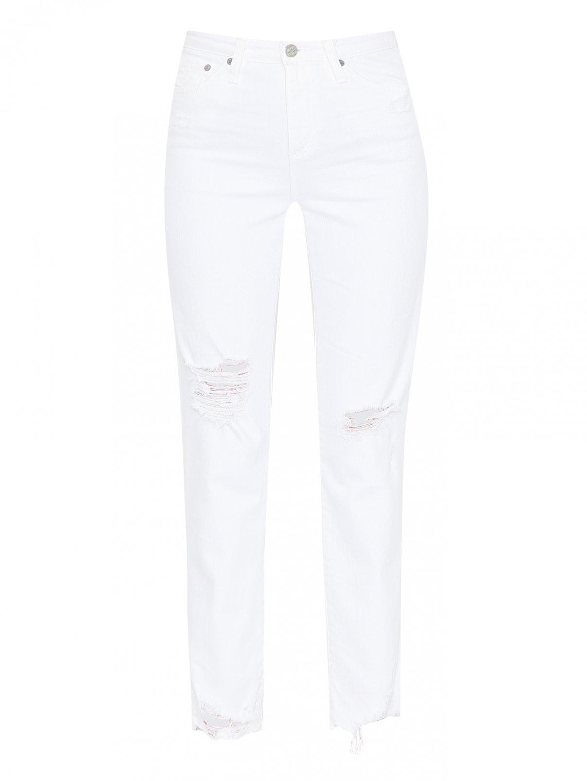 Джинсы из светлого денима с потертостями AG Jeans  –  Общий вид