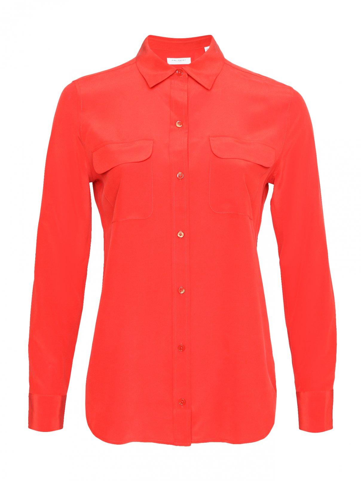 Блуза из шелка с карманами Equipment  –  Общий вид
