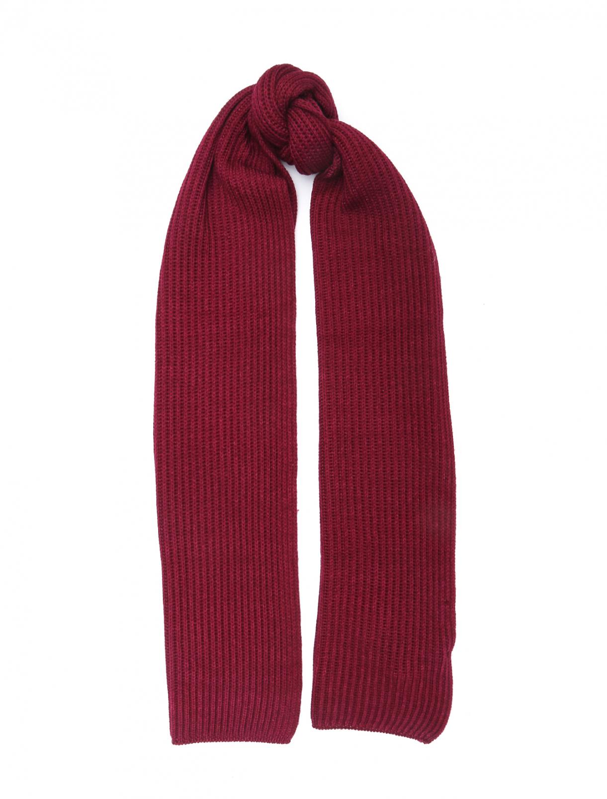 Шерстяной однотонный шарф LARDINI  –  Общий вид