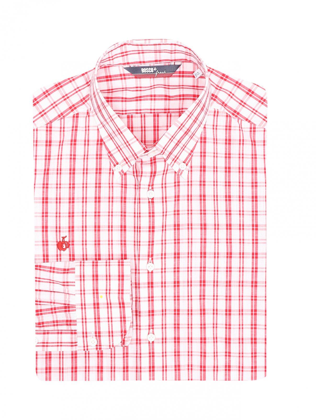 """Рубашка из хлопка с узором """"клетка"""" Bosco Fresh  –  Общий вид"""