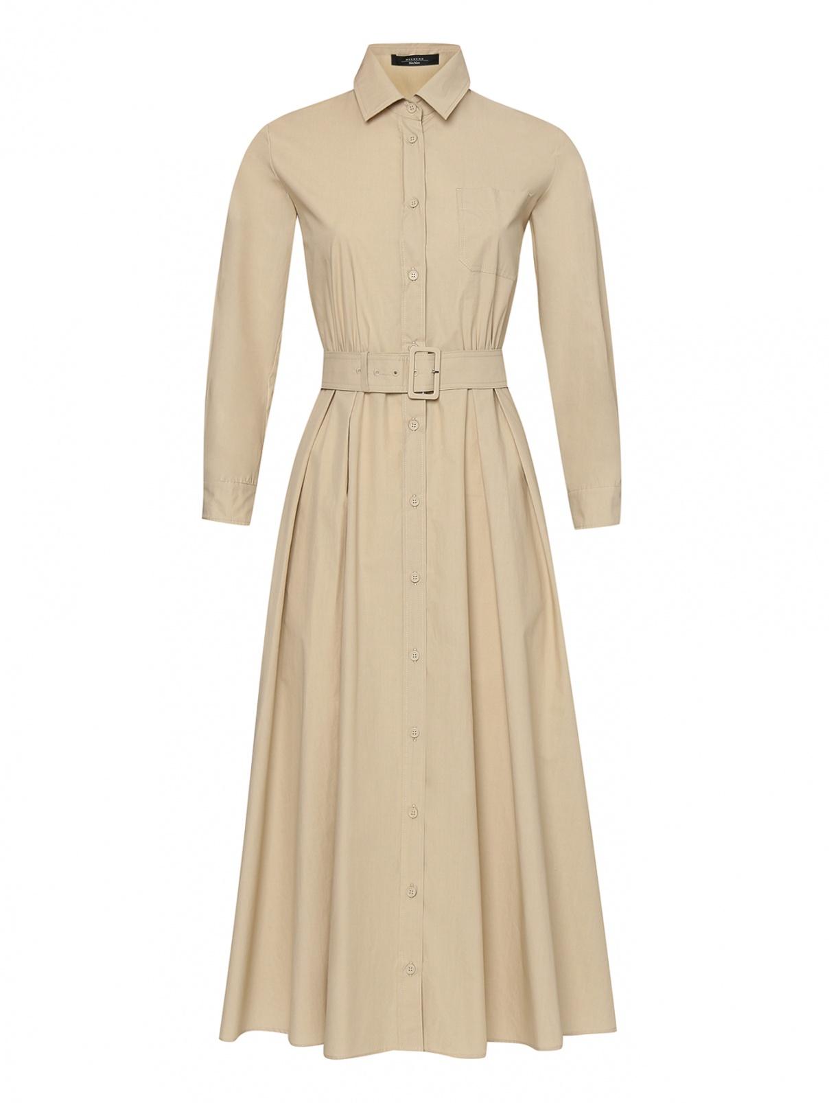 Платье-миди из хлопка на пуговицах Weekend Max Mara  –  Общий вид