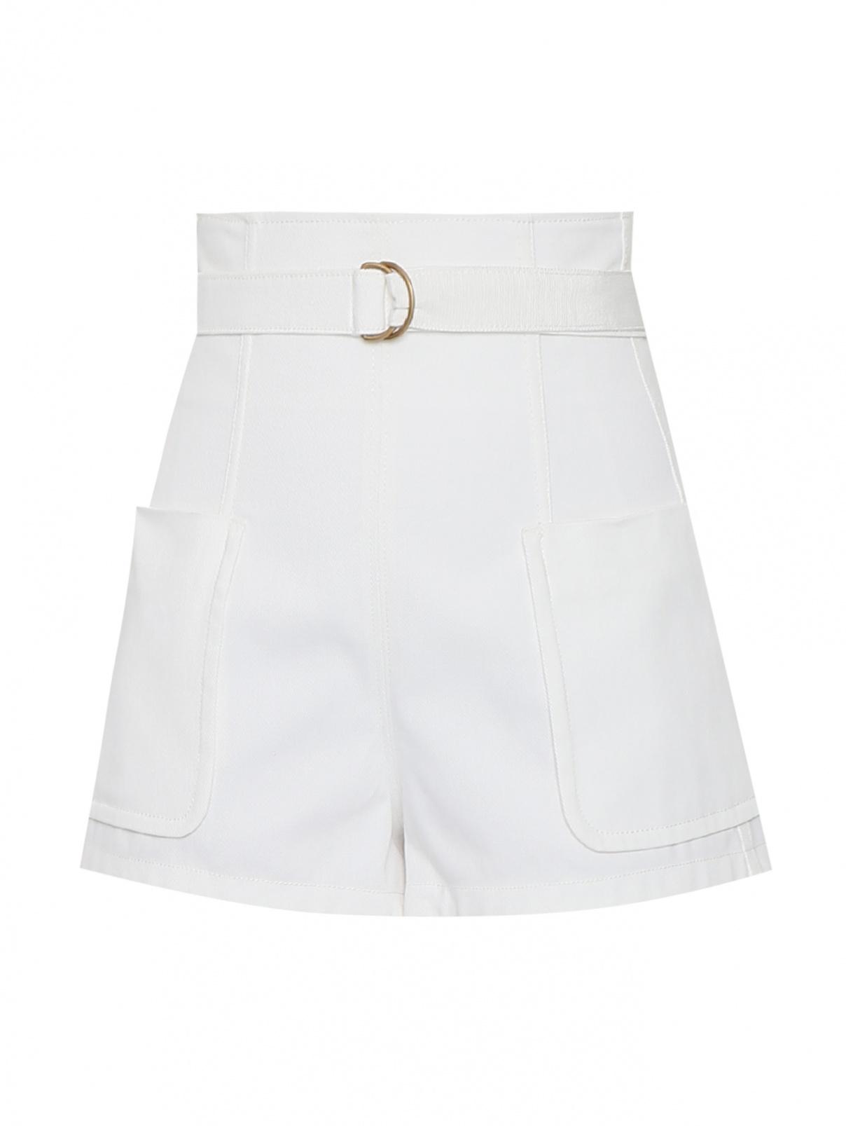 Джинсовые шорты с высокой посадкой с карманами Philosophy Di Lorenzo Serafini  –  Общий вид