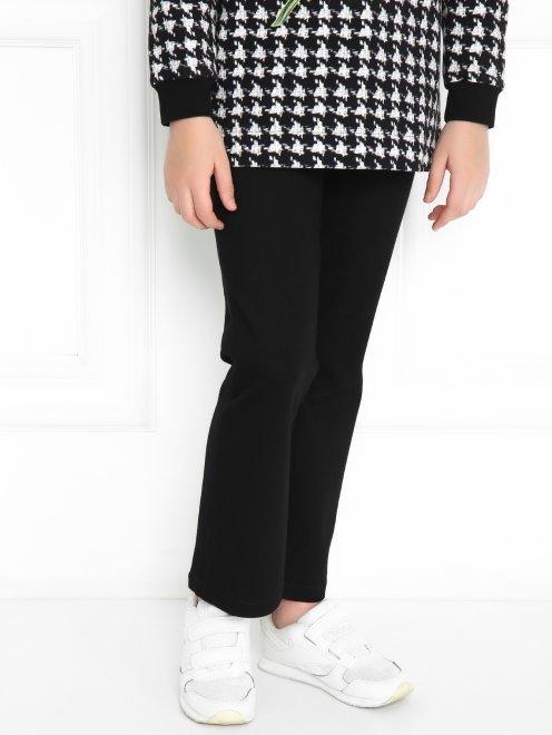 Трикотажные брюки с карманами - МодельВерхНиз