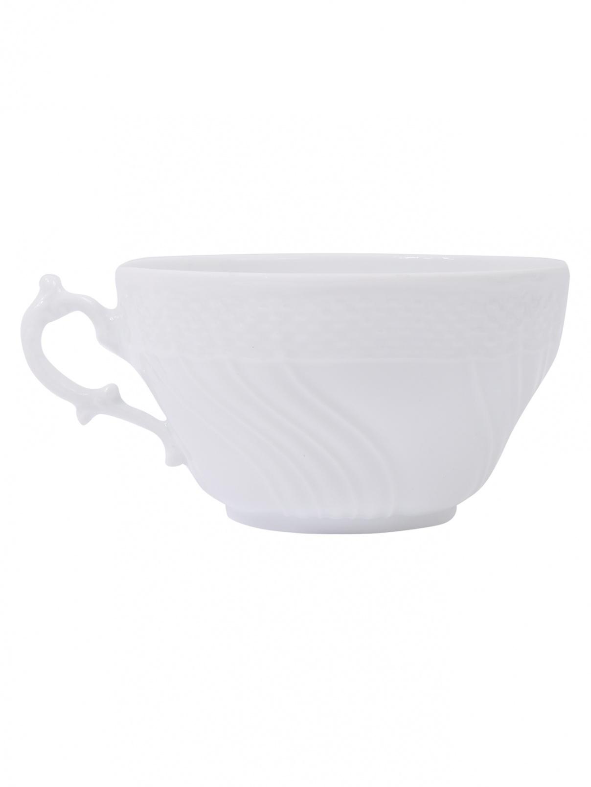Чайная чашка из фарфора с рельефным узором Richard Ginori 1735  –  Общий вид
